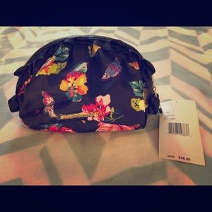 Betsy Johnson floral cosmetic bag